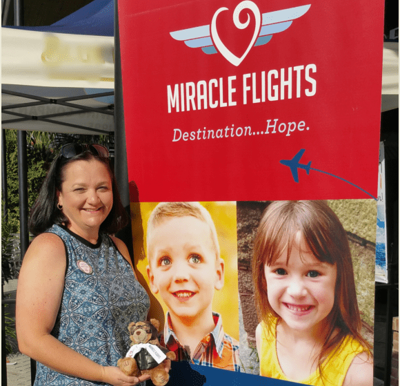 a lady at miracle flights