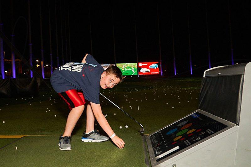 Golfer kid