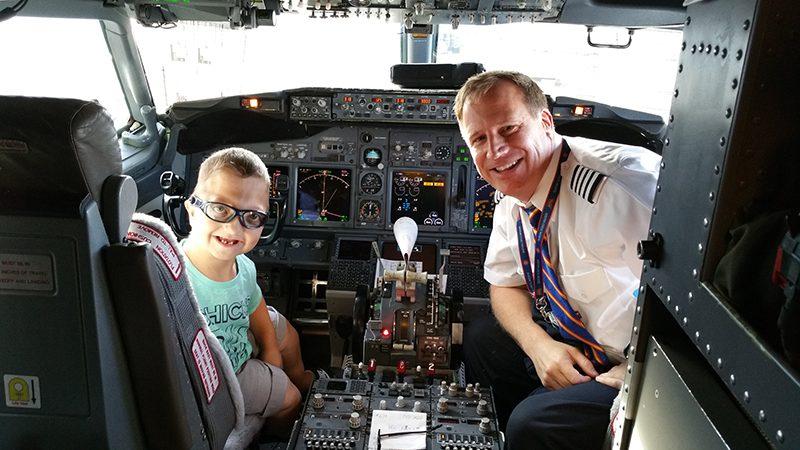 Levi with pilot